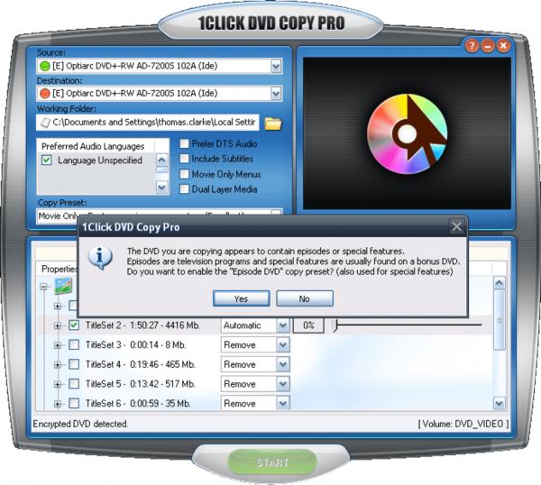 1CLICK DVD Copy Pro 6.2.1.9 Crack & Activation Code [2021] Latest Download
