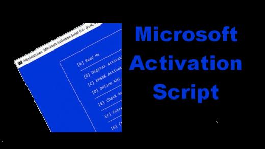 MICROSOFT Activation Scripts Crack V1.4 Free Download 2021