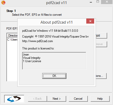 Visual Integrity Pdf2cad 12.2020.12.0