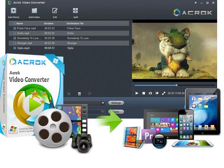 Acrok Video Converter 7.0.188.1699 Crack Download