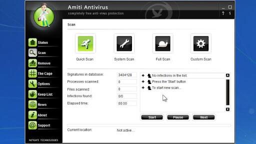NETGATE Amiti Antivirus 2021 25.0.800